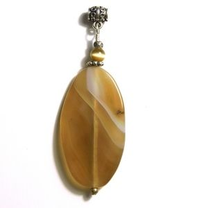 NWOT Wire-Wrapped Stone Pendant